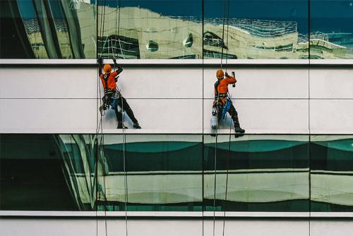 Glasreiniging speciale constructies